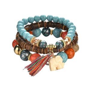 Gofuly новые ювелирные изделия Бисер Женщины Мужчины Кристалл Шарм браслеты Многослойные браслеты конфеты цвет Подходящие браслеты для мужчин и женщин