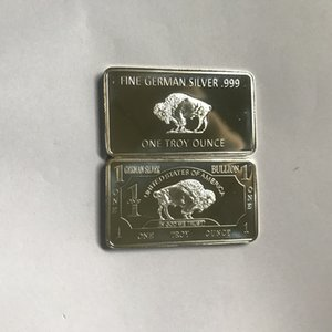 10 pcs Non Magnetic buffalo German silver plated 1 OZ ox animal 58 mm x 28 mm souvenir bullion bar