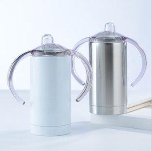 Tumblers Double Layer Chupeta Cup com punho de água de aço inoxidável Garrafa Moda Vacuum Cup Duplas Leak Proof Viagem Cup DHD1507