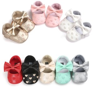 PU Leather Baby Boy Girl Baby Moccasins Moccs Shoes Bow Fringe Soft Soled Non-slip Footwear Crib Shoes