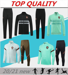 nouvelles 20/21 veste de survêtement pantalon de costume Ronaldo football formation vêtements de formation de football de sport hommes ensemble Pull