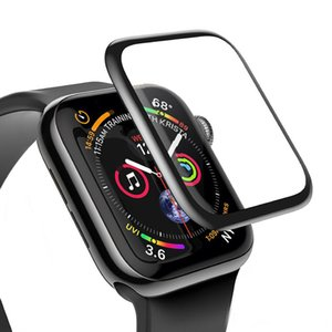 3D Full Glue Tempered Glass Screen Protector For Apple Watch 4 40mm 44mm Series 5 2 3 38mm 42mm with retail