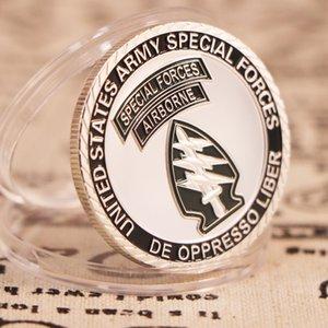 United States Army Special Froces Airborne argento placcato Souvenir Monete Fans dell'esercito Collezione Arte regalo Drop Shipping