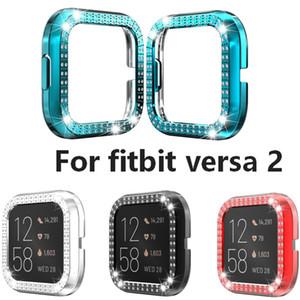 Rahmen Anti-Kratz-TPU Shell-Abdeckung für Fitbit kehrt 2 Display-Schutzhülle für fitbit versa2 Uhr-Zusatz-Band-Bügel-Fall