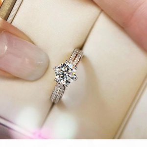 1 oct size sparkly diamond queen ring for women marryage wedding gift drop shipping PS6431
