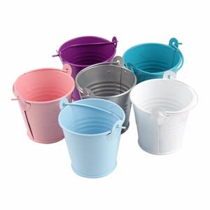2020 White Mini bucket ,favors tins, wedding favors, tin pails,tin candy box, favors tins