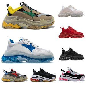 Hot venda-Fashion Luxury Designer Paris 17FW Triple-S Shoes pai Casual sapatos de luxo Shoes BL Triple S Limpar Sole Platform Esporte sapatilha