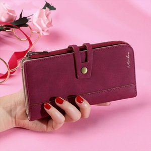 Long Women Wallet Large Women Purse Clutch Solid Casual Ladies Wallet With Coin Purse Cellphone Wallet