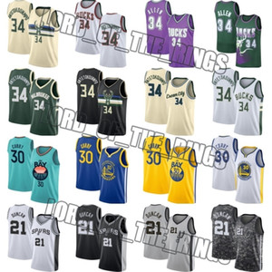 Stephen 30 Curry Jersey Giannis 34 Antetokounmpo Jerseys Tim Duncan 21 Golden StateguerreirosMilwaukeeBucksJerseys