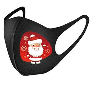Маски для лица Рождества Губка Unisex Black Маска Сант-Клаус Маски Elk снеговик Black Face пылезащитного велоспорт мода маска для лица Обложки E91603