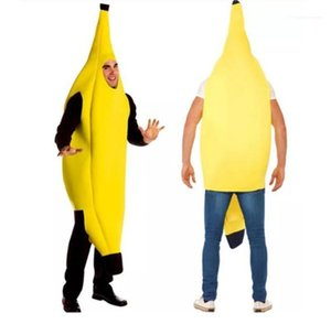 Étape Custume drôle Unisexe Vêtements Halloween Cos fruits Spoof Thème Costume Banana Cosplay