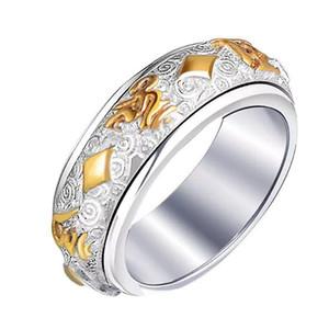Bague Cercle Finger Hoop Décoration en acier inoxydable Bijoux Cadeau pour Femmes Hommes THJ99