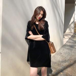 zR3pi gifvl Mid-length maniche corte underpants- camicia 2020 nuove mutande stile coreano T perdere tutto-fiammifero base T-shirt mezza manica S delle donne
