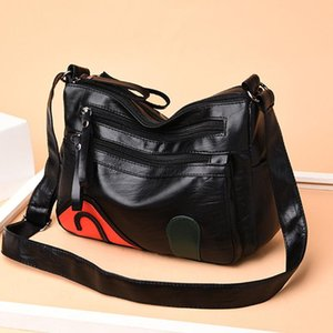 Las señoras de lujo OCARDIAN bolso ocasional de las mujeres con cuero Balck bolso de alta calidad salvaje de la bolsa de mensajero Bolsas Mujer May24