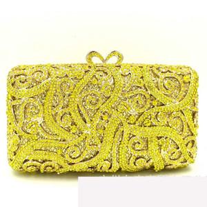 Xiyuan gelbe Diamant-BAG-Frauen-Abend-Beutel-Metallkristall Kupplungen Hochzeit Handtaschen Brautpartei-Cocktail-Beutel Geldbeutel