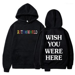 Were Here Print Fashion Male Hooded Sweatshirts 2020 Mens Designer Hoodies Astroworld Hoodie Letter Wish You