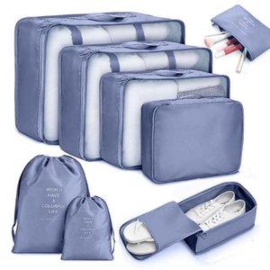 Portable Quilt 6 8pcs Travel Bags Clothes Luggage Cube Blanket Storage Organizer Bag Bags Pouch Packing Waterproof Suitcase Srlqu