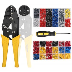 5 in 1 clamp tools 10wf jaw Household Tool Set HS-40J 0.25-6mm AWG23-10 crimping tool pliers sets