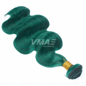 VMAE Pure Color Green Brazilian Virgin Human Hair Uprocessed Natural Human Hair Body Wave Beautiful Women's Hair Extensions Free Shippi