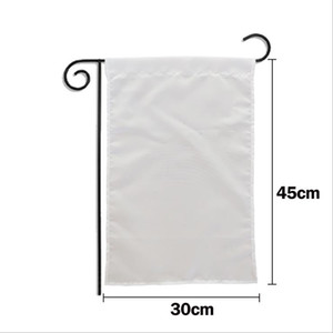 Blank Garden Flag Sublimation American Garden Flags Polyester Yard Hanging Flag Decorative Banners Blank Banners Size About 30*45cm BT422