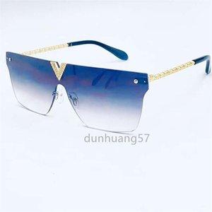 European and American fashion brand sunglasses brand designer diamond V-shaped logo resin lens fashion ladies polarized sunglasses