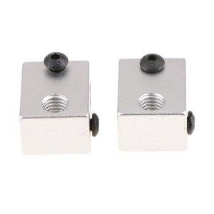 2pcs Алюминиевый Heating Горячая Нагреватель блока Монтаж Для 3D Экструдер для печати