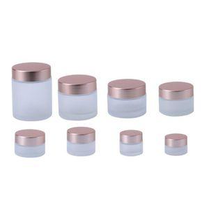Оптовая 5g 10г 15г 20г 30г 50г 60г 100г Empty Glass баночки Cosmetic Стеклянные бутылки по уходу за кожей крем контейнеры с пластиковым колпачком