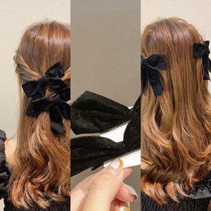 E0iMx cs Mujer linda muchacha del color de la señora partido bowknot joyería Accesorios StarHair peluca de pelo Clip de pelo del arco de la muchacha