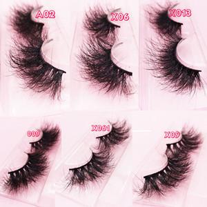 25 mm Lashes 3D vrai Mink cheveux Faux cils épais longs cils Wispy Fluffy cils de vison de 25 mm de cils naturels long vison 3D
