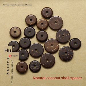 t2hyP coco color natural partición de la cáscara del coco de DIY Buda granos de los accesorios de la estrella de la luna King Kong 108 Buda granos de los accesorios