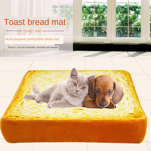 Toast Bread Pet Bed Removable Cat Dog Kennel Soft Detachable Kitten Puppy Mats Rug Sponge Cushion Pets Sleep Play Rest Pad