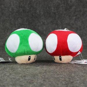 8.5cm Super Mario Mushroom Plush Doll Soft Toy Keychain Decoration Pendant Christmas gift free shipping