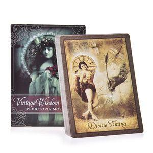 52 Feuilles Cartes Vintage Wisdom Oracle Tarot anglais complet Version Board Game Card pour Family Party Jeu Dropshipping bbyyNj bdeclothes