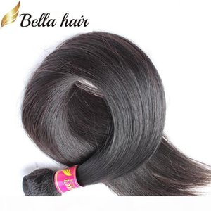 "8""-30"" Peruvian Human Hair Bundles Straight Human Virign Hair Weft Extensions Natural Color 1PC Retail Bella Hair"