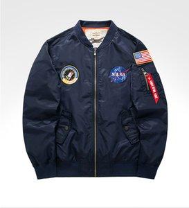 2020 Outono Top Gun US Navy NASA Letterman do time do colégio de beisebol piloto da Força Aérea vôo faculdade jaqueta tático do exército militar para homens