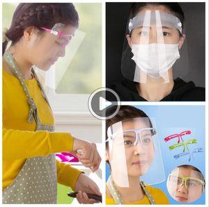 Transparent Fa Bouclier Masque de protection anti-poussière clair masque complet Fa Fa Lunettes de soleil Porte Masques de protection Visières OOA7772