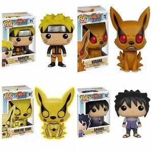 Funko POP Naruto Sasuke Kurama modu Kurama Vinil Eylem Şekil Koleksiyon Model Oyuncaklar İçin Çocuk Noel Doğum hediyesi MX200319