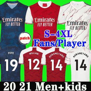 팬 플레이어 버전 아르센 축구 유니폼 (20) (21) PEPE SAKA NICOLAS 티어니 HENRY 윌리 MAITLAND - NILES 2020 2021 축구 셔츠 남자 아이