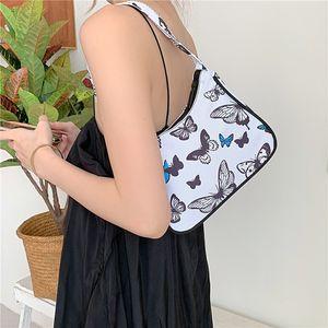 Luxurys Designers Bags Korean Graffiti Bag 2020 New Style Fashion Hand-Painted Underarm Bag Fashion All-match Harajuku Ulzzang Shoulder Bag