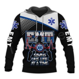 Tessffel Emergency Medical Technician EMT EMS paramédico NewFashion Unisex pulôver 3DPrint Camisola / Hoodies / zíper / revestimento S-15 0915