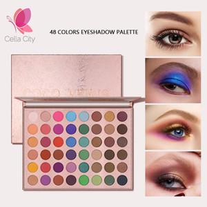 Cellacity 48 Cor Sombra Glitter Paleta Shimmer Matte pigmentado pó sombra para os olhos Pallete Olhos Maquiagem