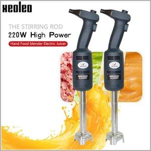 XEOLEO 220W El Smoothie yapımcısı kademesiz işlemci Ticari Immertion blender Ağır hizmet tipi Handheld blender