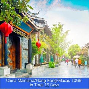 China Continental / Hong Kong / Macau 10GB no total 15 Dias VPN ilimitado de Roaming Global Viagem Dados Simcard Pré-pago Internet Turismo Cartão Pr baratos