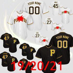 Pittsburgh jérsei de basebol Piratas 21 Roberto Clemente Stargell Majestic 55 Josh Bell Archer 2020 Customed Jerseys Camisetas de beisbol