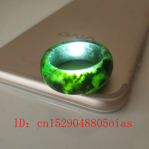 Natural Negro Verde Hetian Jade Anillo Chino Jadeite Amuleto Obsidian Charm Jewelry Tallado Tallado Gifts regalos para mujeres hombres