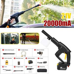 Lavage de voiture sans fil machine au lithium charge de la batterie pistolet à eau portable avec tuyau d'eau de lavage auto outils de nettoyage Pièces 21V