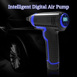 Handheld Air Pump Intelligent Digital Charging Wireless Car Air Pump Tire Inflator Electric LED Smart Car Compressor