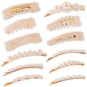 8 10 12pcs Letter Hairpin Rhinestone Headwear Group Combine Pearl women hair clips Barrette Hair Accessories Styling Set