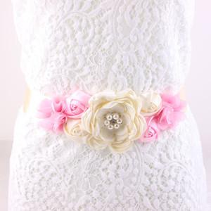 wholesale Maternity Sash Flower Sash Belt Bridesmaid Photo Prop Baby Shower Newborn Flower Belt Bridal Wedding Accessories