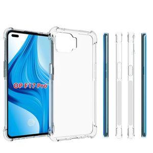 Pour Oppo A53 F11 Pro Clear Case Anti Frappez transparent bord souple Gel TPU couverture arrière pour Oppo F17 Pro